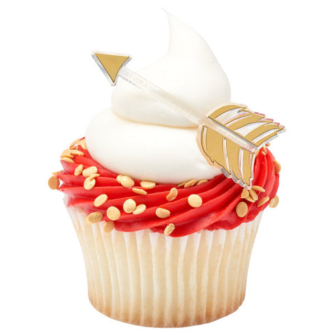 Gold Arrow Cupcake Layon