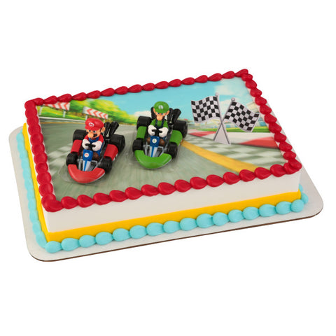 Super Mario™ Mario Kart™ Edible Cake Topper Image DecoSet® Background