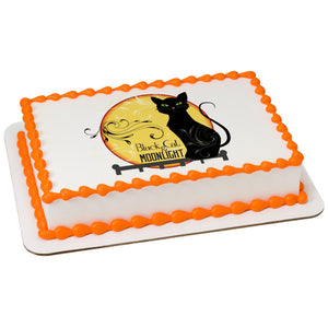 A Birthday Place - Cake Toppers - Black Cat Edible Cake Topper Image