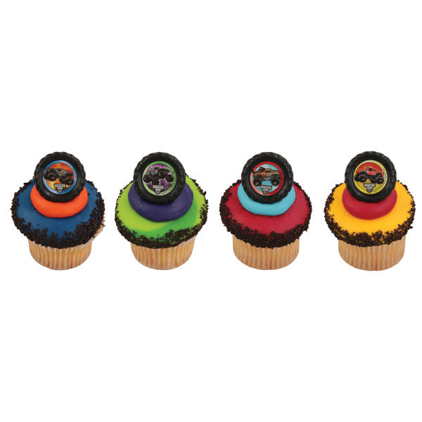 A Birthday Place - Cake Toppers - Monster Jam® Car Crushing Cupcake Rings