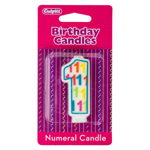 A Birthday Place - Cake Toppers - Number '1' Pattern Numeral Candles