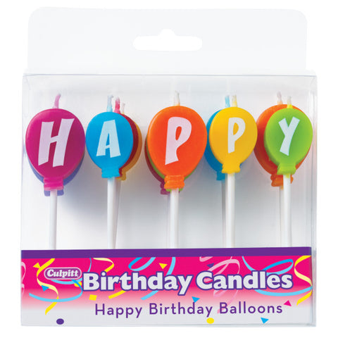 Happy Birthday Balloons Specialty Candles