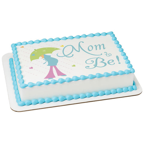 A Birthday Place - Cake Toppers - Mom To Be Edible Cake Topper Image