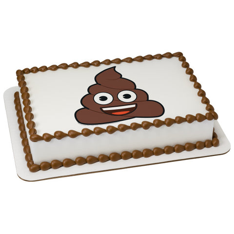 Emoji-Smiley Poo Edible Cake Topper Image