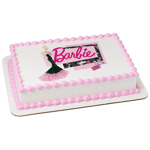 Barbie™ Forever Glam Edible Cake Topper Image