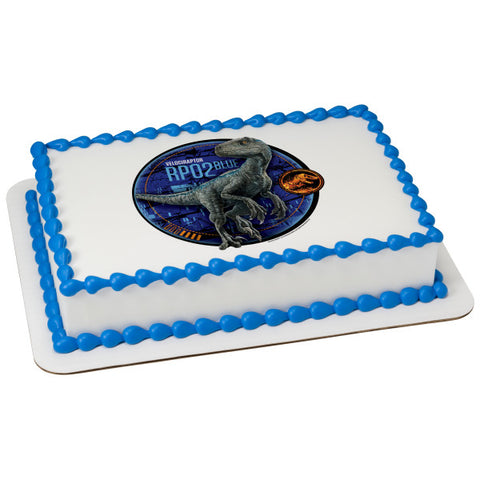 Jurassic World 2-Blue Edible Cake Topper Image