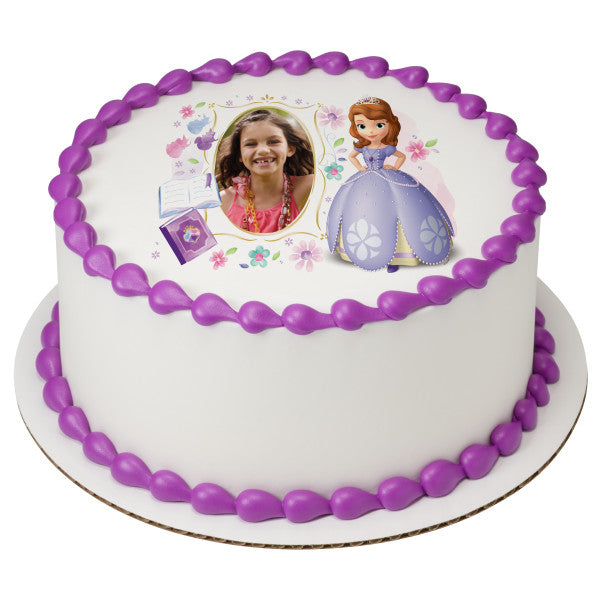 Sofia the First Dreaming in the Garden Edible Cake Topper Image Frame