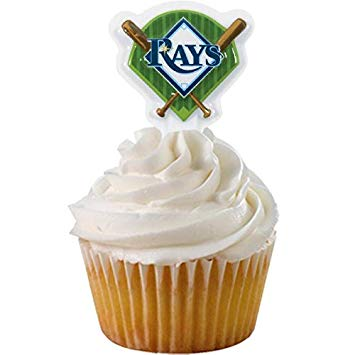 MLB Tampa Bay Rays DecoPics Cake Picks (12 count)
