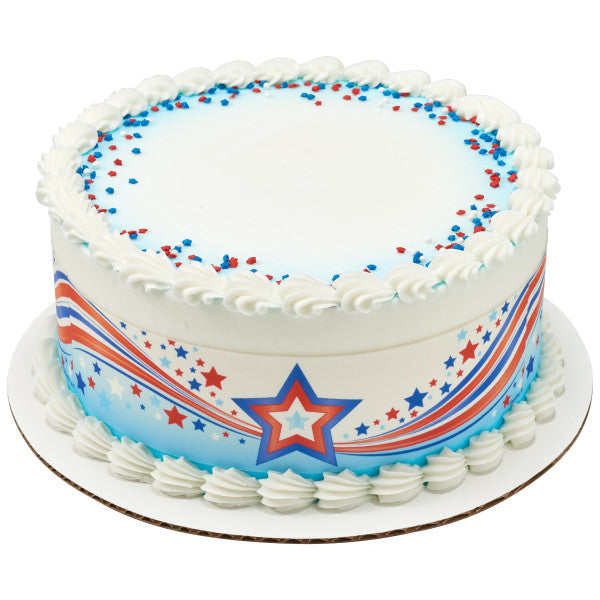 Patriotic Stars Edible Cake Topper Image Strips