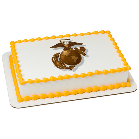 United States Marine Corps Edible Cake Topper Image