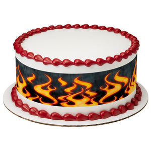 A Birthday Place - Cake Toppers - Flames Edible Cake Topper Image Strips