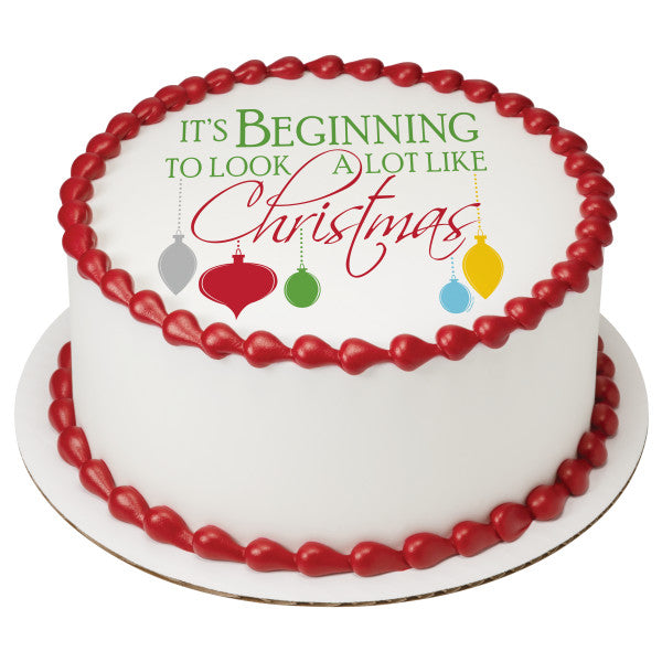 A Lot Like Christmas Edible Cake Topper Image
