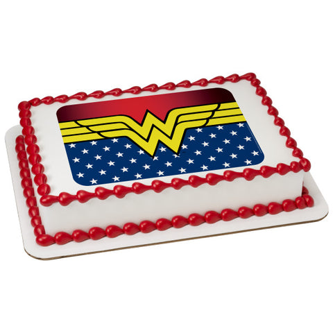Wonder Woman-Freedom Edible Cake Topper Image