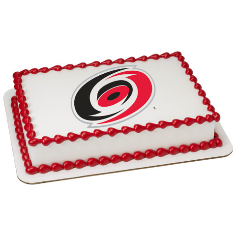 NHL® Carolina Hurricanes Team Edible Cake Topper Image