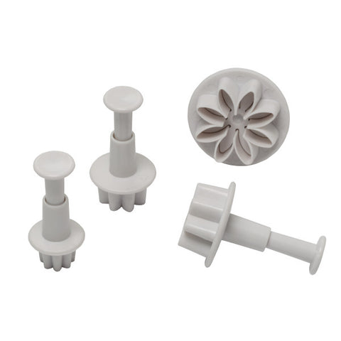 Daisy Plunger, 4 Piece Set Cutters/Molds