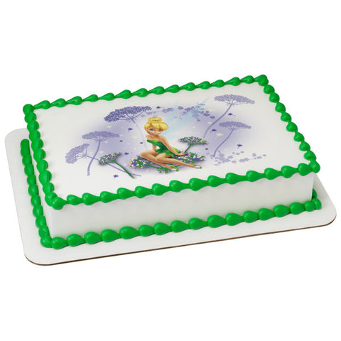 A Birthday Place - Cake Toppers - Tinker Bell I Believe in Fairies Edible Cake Topper Image