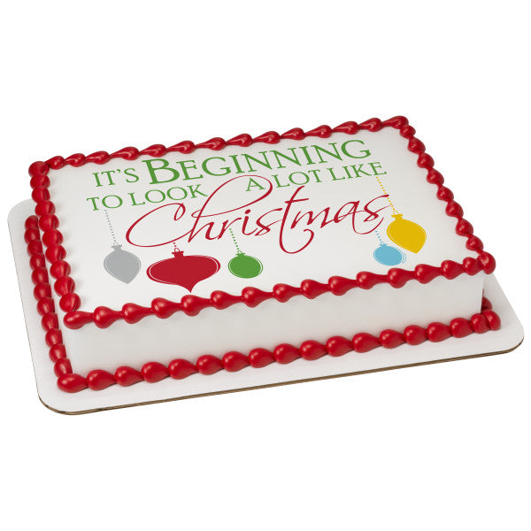 A Birthday Place - Cake Toppers - A Lot Like Christmas Edible Cake Topper Image