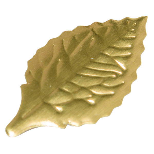 "A Birthday Place - Cake Toppers - 1 3/8"" Gold Foil Rose Leaves Foil Leaves"
