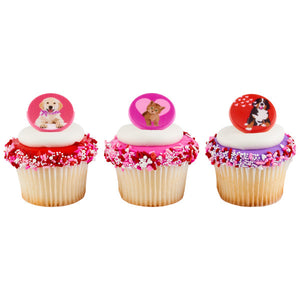 Animal Love Cupcake Rings