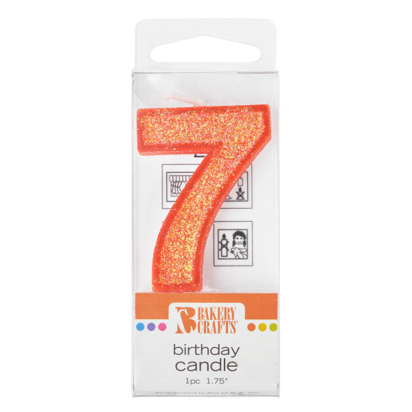 Bakery Crafts '7' Glitter Numeral Candles