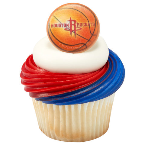 NBA Houston Rockets Cupcake Rings