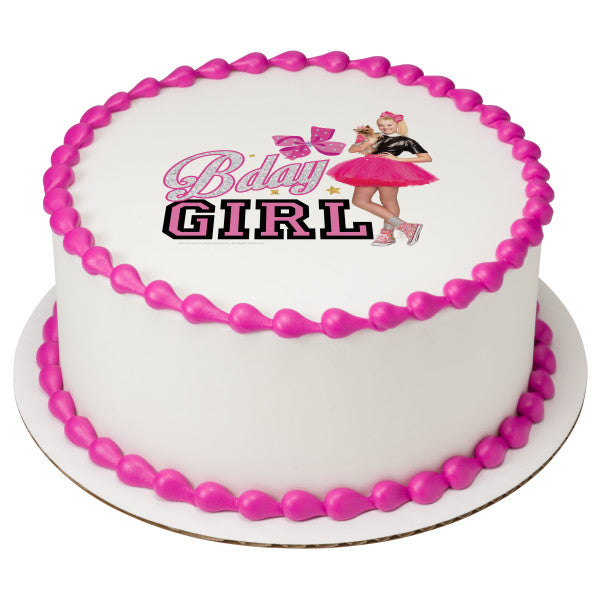 JoJo Siwa™ Bday Girl Edible Cake Topper Image