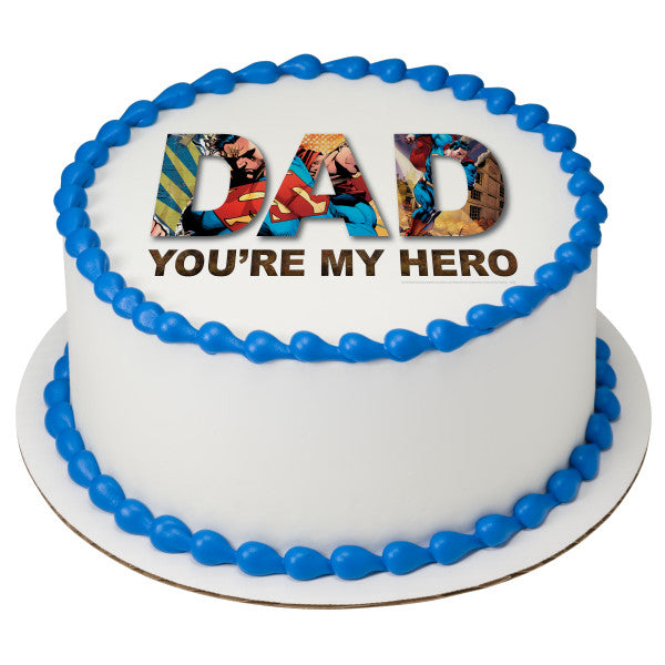 Superman™ You're My Hero Edible Cake Topper Image