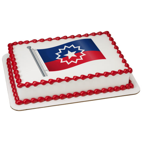 Juneteenth Flag Edible Cake Topper Image