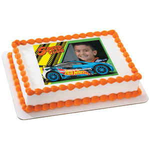 Hot Wheels Driven To Thrill Edible Cake Topper Frame A Birthday Place
