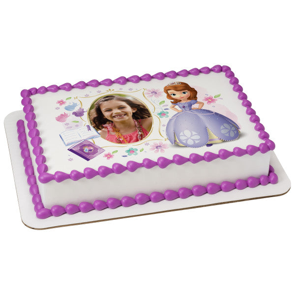 Amazing Sofia The First Dreaming In The Garden Edible Cake Topper Image Personalised Birthday Cards Cominlily Jamesorg