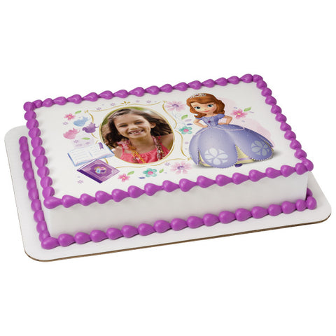 A Birthday Place - Cake Toppers - Sofia the First Dreaming in the Garden Edible Cake Topper Frame