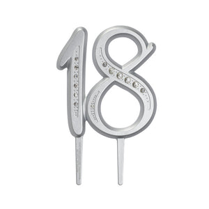 "A Birthday Place - Cake Toppers - ""18"" Diamond Milestone Monogram"