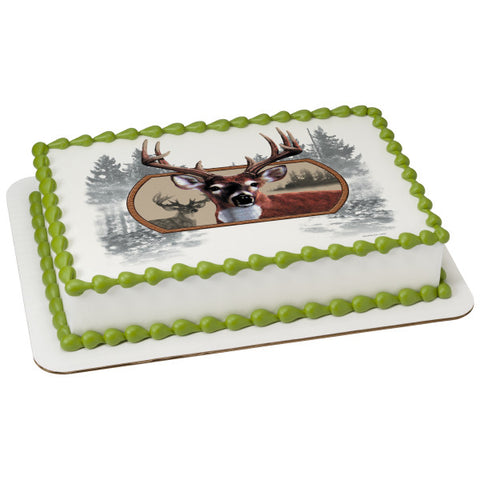 A Birthday Place - Cake Toppers - Deer Edible Cake Topper Image