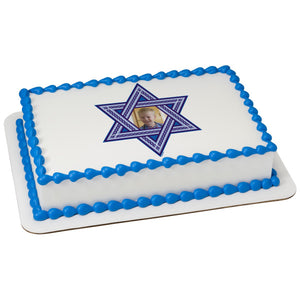 A Birthday Place - Cake Toppers - Star Of David Edible Cake Topper Frame