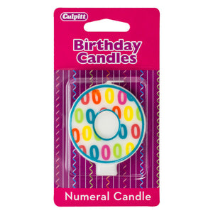 A Birthday Place - Cake Toppers - Number '0' Pattern Numeral Candles