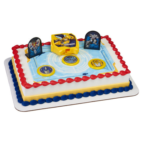 Transformers™ Autobot Battle Edible Cake Topper Image DecoSet® Background