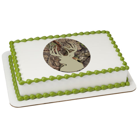 Mossy Oak Break Up Country Deer Edible Cake Topper Image