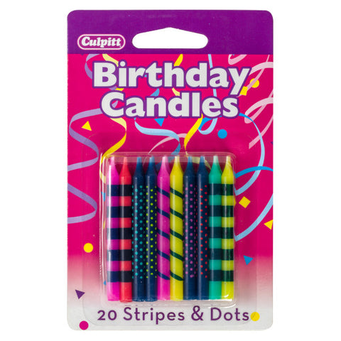 Bright Stripes & Dots Specialty Candles