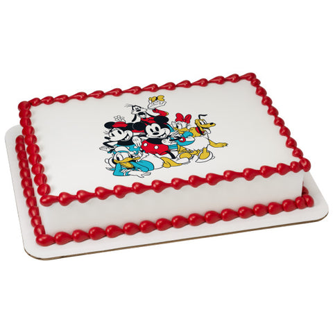 Mickey Mouse and Friends Sensational 6 Edible Cake Topper Image