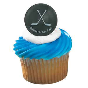A Birthday Place - Cake Toppers - Hockey Puck Cupcake Rings