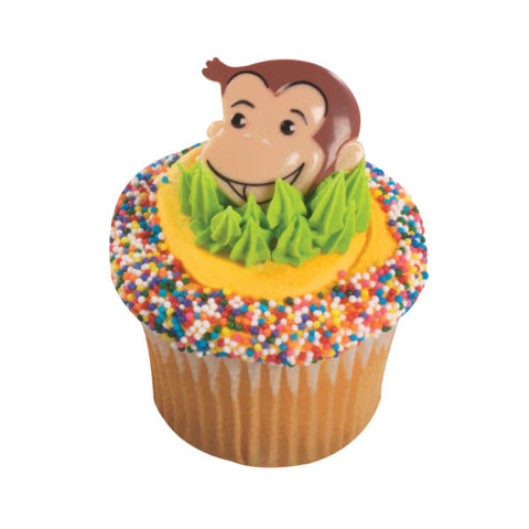 A Birthday Place - Cake Toppers - Curious George® Cutest Monkey Cupcake Rings