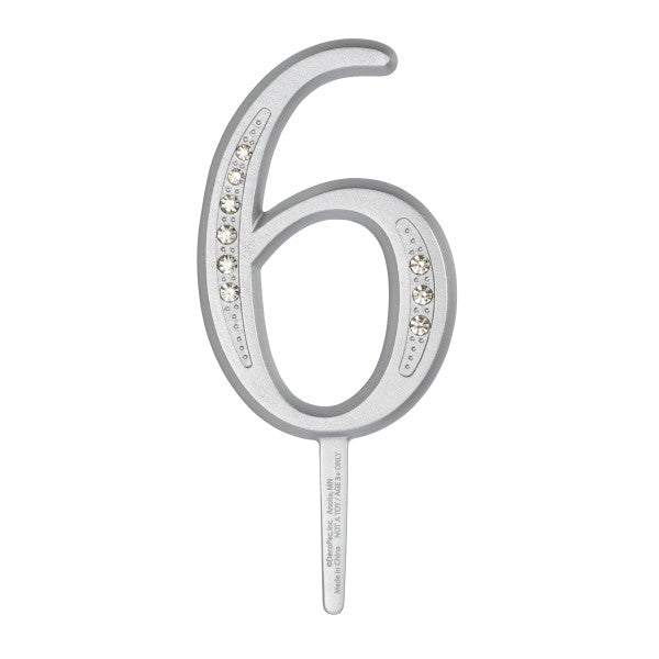 "A Birthday Place - Cake Toppers - 3.5"" 6 Diamond Number Monogram"