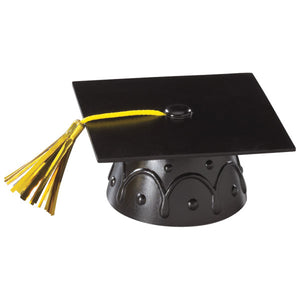 Black Grad Cap with Tassels Layon