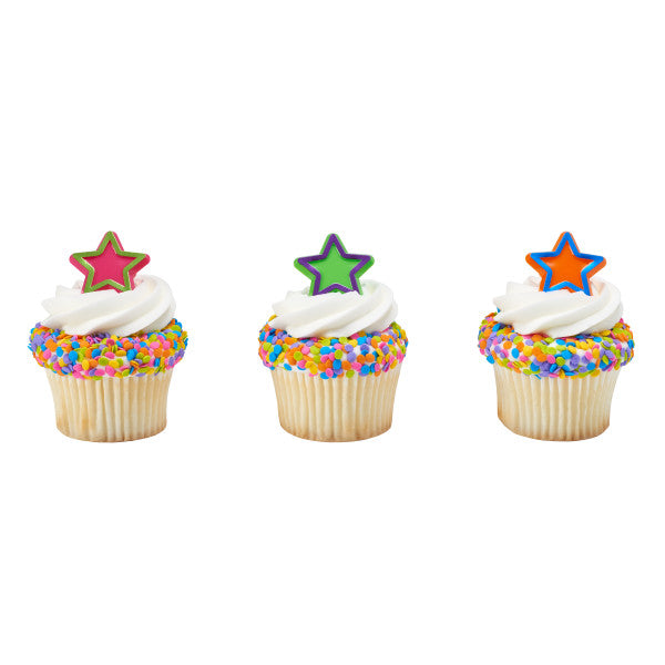 A Birthday Place - Cake Toppers - Bright Star Graduation Cupcake Rings Cupcake Rings