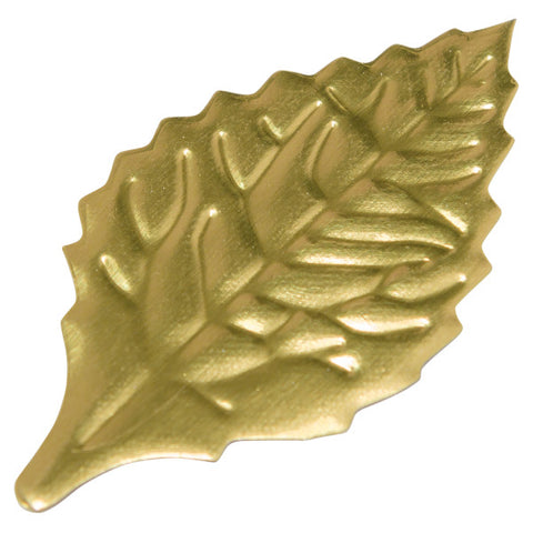 "A Birthday Place - Cake Toppers - 2 1/8"" Gold Foil Rose Leaves Foil Leaves"