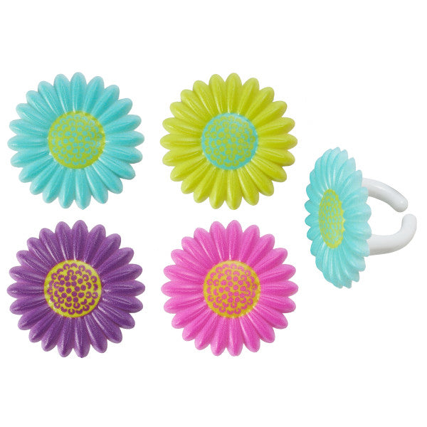 Bright Blossom Cupcake Rings