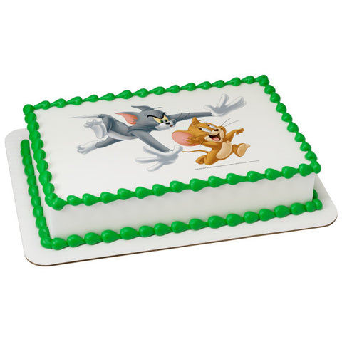 Tom & Jerry Edible Cake Topper Image