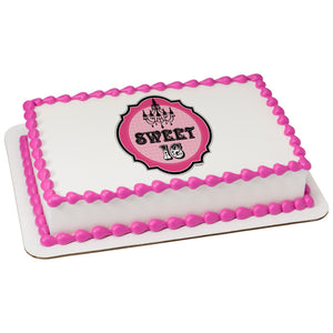 A Birthday Place - Cake Toppers - Sweet 16 Edible Cake Topper Image