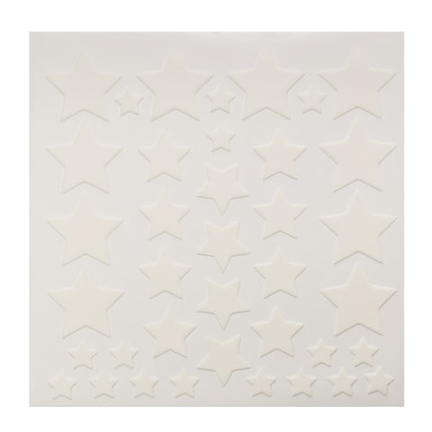 White Stars Fondant DecoShapes®