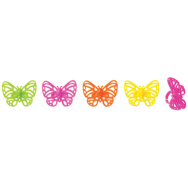 Bright Butterflies Cupcake Rings